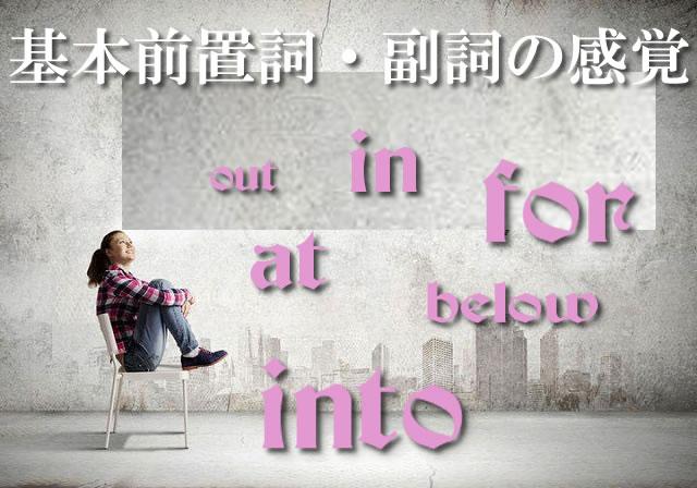 基本前置詞・副詞の感覚